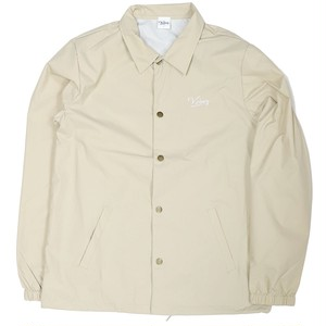 CREAM LOGO COACH JACKET