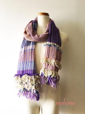 手織りストール シルク Si-001