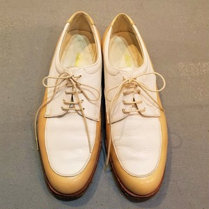 Salvatore Ferragamo 2 tone lace up shoes /Made In Italy [S-308]