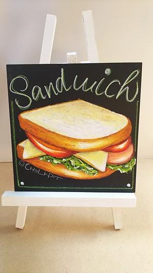 【チョークアート】 自宅で描けるキット  【 サンドイッチ 】