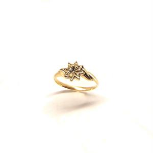 【K18イエローゴールド】Clematis‐ring(受注)
