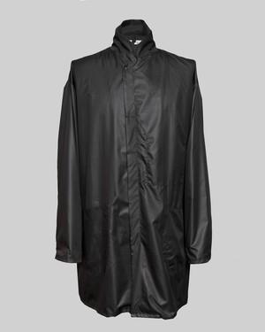 T/f polyester taffeta work coat - black
