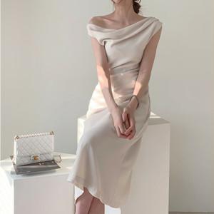 お呼ばれワンピース ドレス フレア Aライン パーティー 結婚式 二次会 モテ ワンピース オフィス 上品 可愛い ガーリー フェミニン w828 04