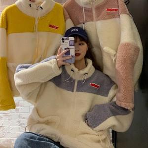 【トップス】超人気商品 学園風 長袖 切り替え 秋冬 ハイネック パーカー34070029