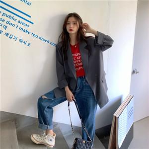 2020AW ロング丈ジャケット+ロゴTシャツ+ダメージデニムパンツ