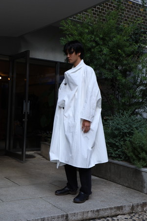 """Omar Afridi"" Draped Layer Coat"