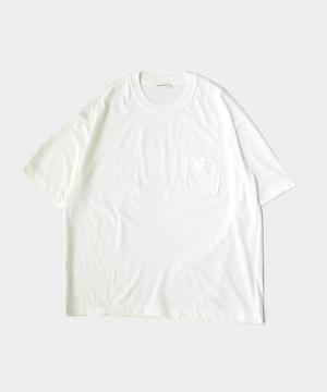 MATSUFUJI Short Sleeve Pocket T-shirt WHITE