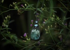 アクアマリン × ムーンストーン  ネックレス