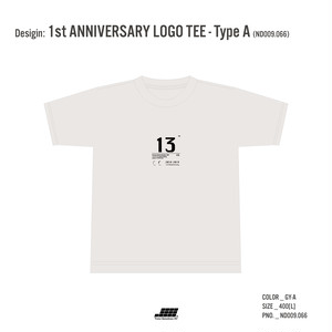 1st ANNIVERSARY LOGO TEE - Type A
