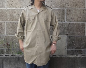 DEAD STOCK (デッドストック) 50-60's FRENCH ARMY OFFICER SHIRTS ベージュ