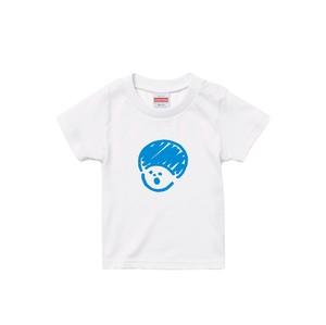 ブルーマッシュキッズTシャツ(モコモコプリント)