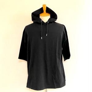 Organic Turkish Cotton Jersey Stitch Hoodie Tee Black