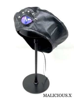 cat  eye  beret / blue × pink