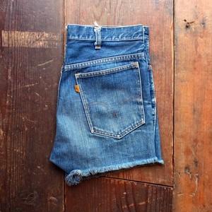 1960s〜 LEVI'S 606 BIG E Cut Off Denim Shorts / W32 リーバイス カットオフ ヴィンテージ #4