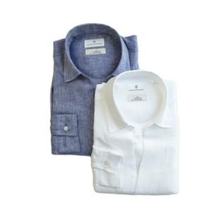 COLONY CLOTHING / ALBINI LINEN POOL SIDE SHIRT / CC21-SH02-1