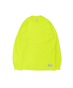 All of L/S Pocket Tee (noTHIN') / SAFETY GREEN