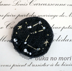 夜空の星座ブローチ (Star星のカケラを服やマフラーや帯留めに飾って)