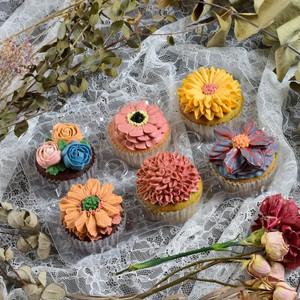 秋のカップケーキセット(バタークリームフラワー)