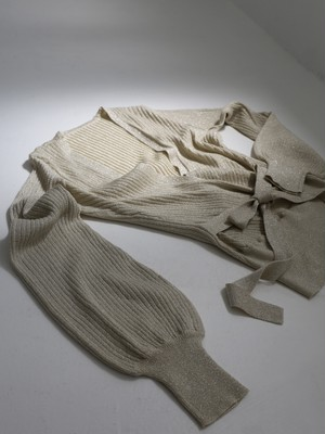 glitter cache-coeur knit(silver)