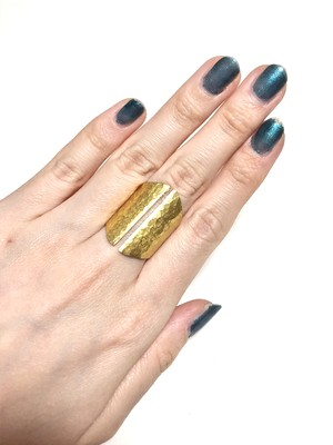 【TAMARI】Raw brass ring
