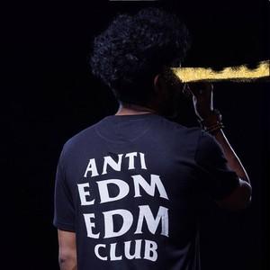アンチEDM 黒Tシャツ(S,M,Lサイズ)送料無料!