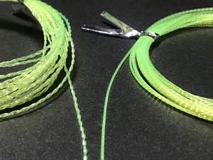 4.5mテンカラ専用より糸テーパーライン(伝統の手撚り)仕掛け巻き付き