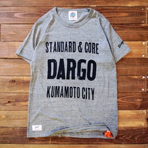 "【DARGO】""Wood Type Logo"" 杢T-shirt (HEATHER GREY)"
