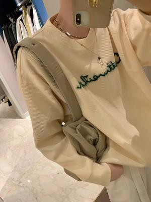 ☆MENS レタリングミニワッフルMTM(Black,Cream) 15800