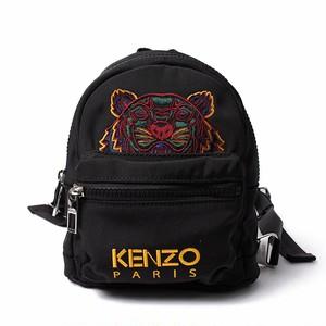 KENZO(ケンゾー) ミニリュック タイガー刺繍 ロゴ ブラック マルチカラー バックパック Black Mini RUCKSACK Backpack Tiger[全国送料無料] r014766