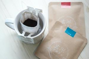 玄米デカフェ ギフトボックス 米粉クッキーセット|体にやさしいノンカフェイン、おうち時間、飲み物|アトリエ玄米デカフェ、MNH