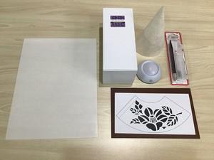 LED型紙あかりキット(下敷き&カッター含む)