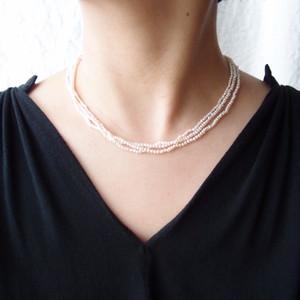 パールネックレス … seed pearl【k14gf】3連 Small