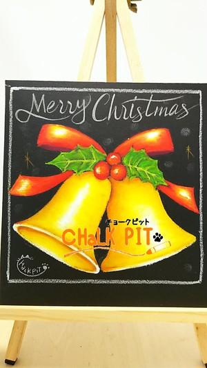 【自宅で描けるキット】15cm正方形 【 クリスマスベル 】