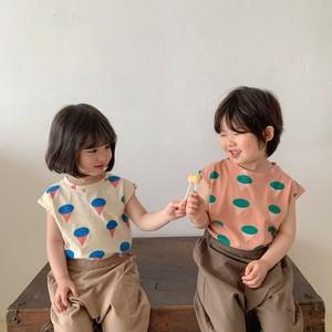 【先行予約】アイスクリーム プリントTシャツ 男の子 女の子 SS 春夏 韓国子供服