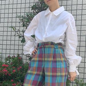 White sleeve ribbon shirt blouse