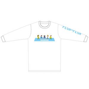 "PEGA-PEGA ロングスリーブ Tシャツ "" livremente"" BLUE"