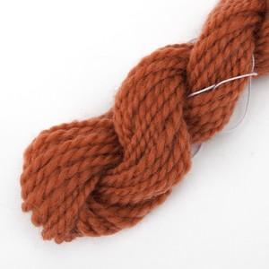 手紡ぎ毛糸オーダー コリデール赤茶 ゲージ用糸サンプル (corri5)