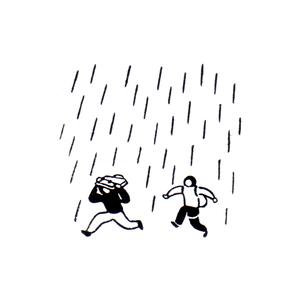 降ってきちゃった Be rained on