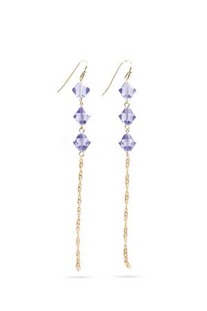 Triple Crystal Drop Hook Earrings