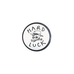 HARD LUCK - OG STICKER (White/Black) 62mm