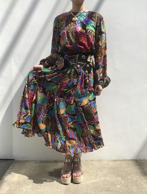 Diane freis animal × geometric dress ( ダイアン フレイス アニマル柄 × ジオメトリック ワンピース )