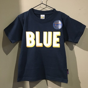 RUSSELL BLUEBLUE キッズ 3D プリント Tシャツ NAVY
