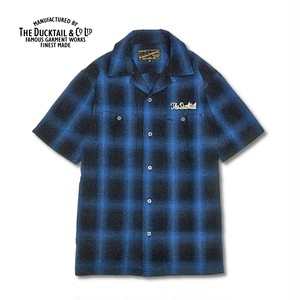 """DUCKTAIL CLOTHING """"RISE AGAIN"""" BLUE ダックテイル クロージング 半袖 チェックシャツ"""