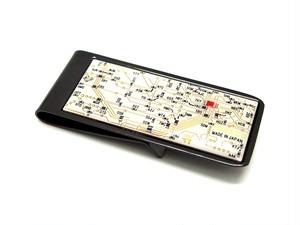 東京回路線図 マネークリップ 白 【東京回路線図A5クリアファイルをプレゼント】
