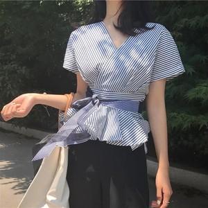 カシュクール ウエストリボンシャツ (ウエストひも結ぶシャツ)