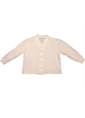 Euro Vintage White shirt 長袖 BL11