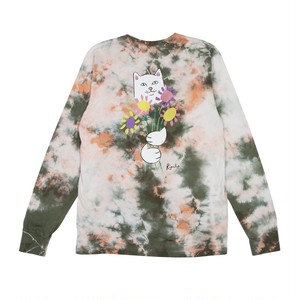 RIPNDIP - Flowers For Bae L/S Tee (Green / Pink Acid Wash)