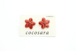 有田焼 ピアス  flower 5