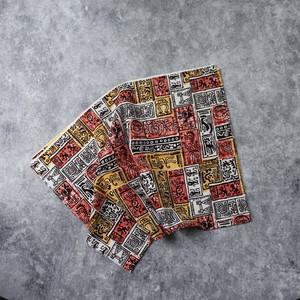 70's Vintage Fabric 70年代 ヴィンテージ ファブリック 生地 アロハ 手芸 古着 A527