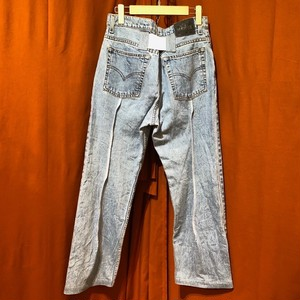 Back Rubber Line Denim Pants    Color : type C